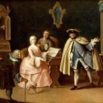 Pietro Longhi (cerchia di), La lezione di musica